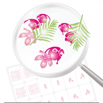 Airbrushschablone Selbstklebend Mix06
