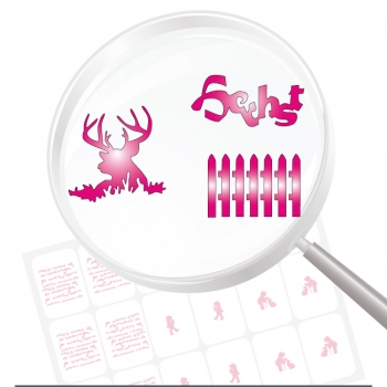 Airbrushschablone selbstklebend HB10