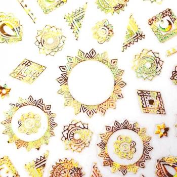 Sticker Ornament 2 Gold