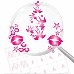 Airbrushschablone selbstklebend PR111