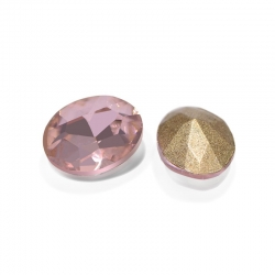 "5 Stück Kristall ""oval"" Rose 8x6mm"