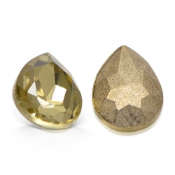 "5 Stück Kristall ""DROP"" Light Topaz 8x6mm"