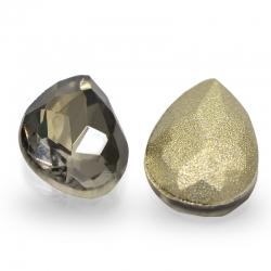 """3 Stück Kristall """"DROP"""" Quarz 10x7mm"""