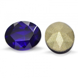 """3 Stück Kristall """"oval"""" Cobalt 10x8mm"""