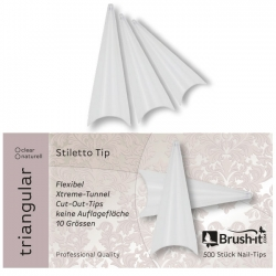 TRIANGULAR: Stiletto-Tips incl. Box