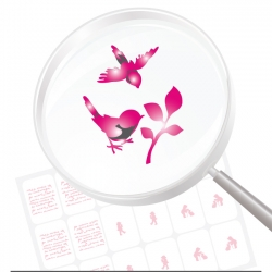 Airbrushschablone selbstklebend TI109