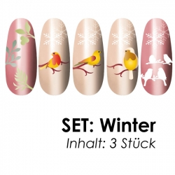 SET: Airbrushschablone Winter