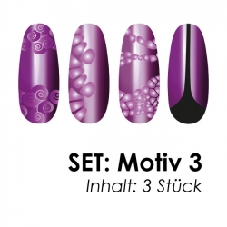 SET: Airbrushschablone Motiv 3