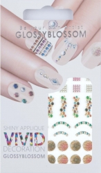 Nail-Sticker Glossy Blossom No. 746