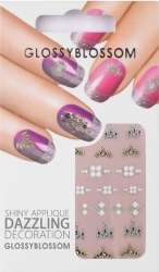 Nail-Sticker Glossy Blossom No. 638